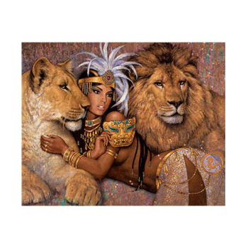 Cleopatra Hot Open Sexy Egypt Lady And Beast Lionwoman And Animal