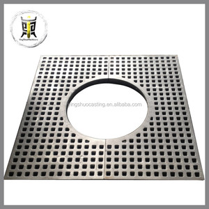 ductile iron casting tree guard ,tree pool perforated strainer ,tree pool cover