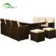 outdoor waterproof daybed America-style garden lounge set pe rattan furniture parts