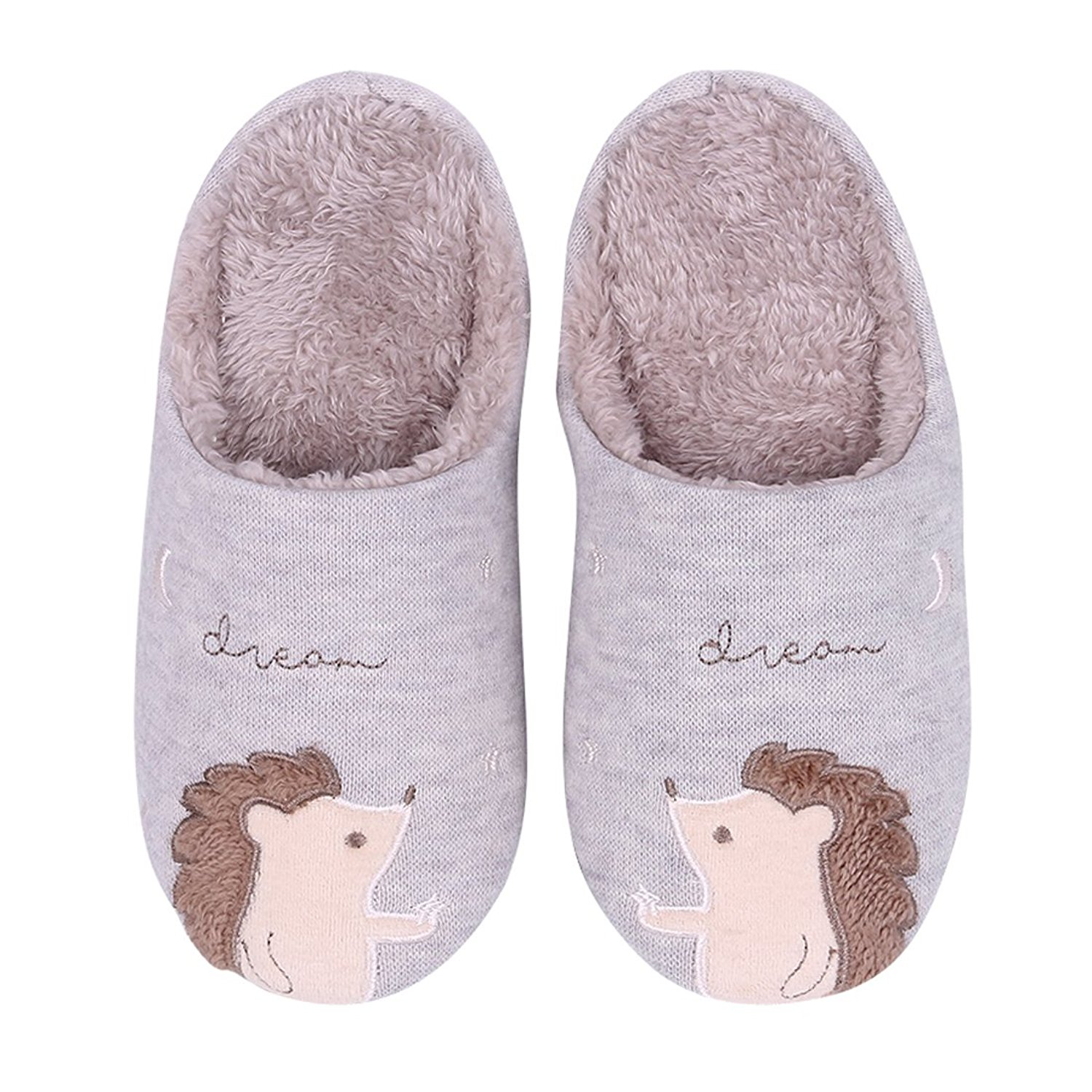 Cattior Kids Animal Cute Leather Slippers Bedroom House Shoes Boys Girls