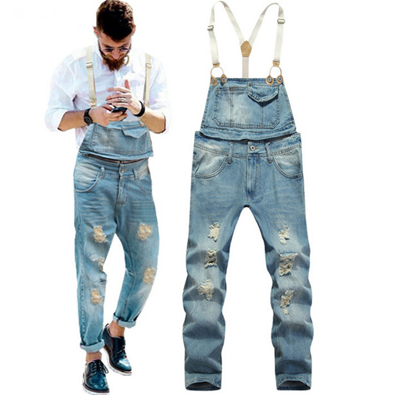 e7640fe7526 Get Quotations · New 2015 Mens Bib Denim Overalls Slim Fit Men s Jeans  Coveralls Pants With Suspenders robins jeans