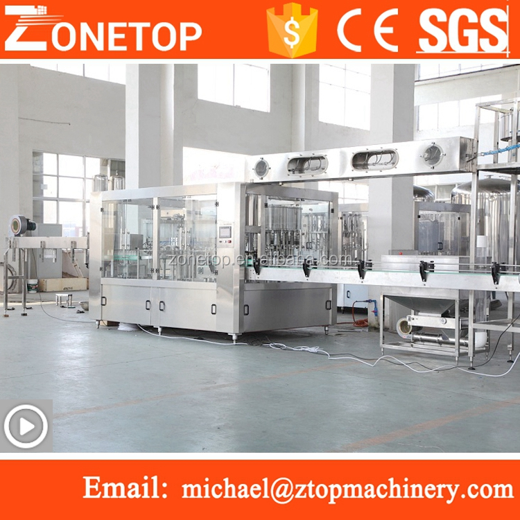CE certificated reliable automation rotary type water bottle rinser filler capper 3in1 machine