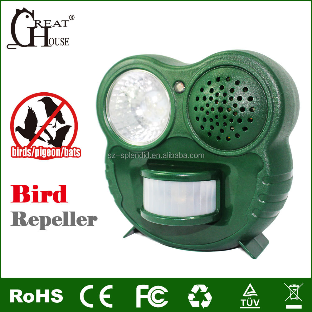 Indoor / outdoor use Electronic bird repellent pest control with Light sensor By Greathouse GH-503