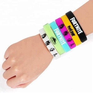 FORTNITE Bracelets Kids Video Game Birthday Party Supplies Favors Silicone Wristband for Boys Girls Teens