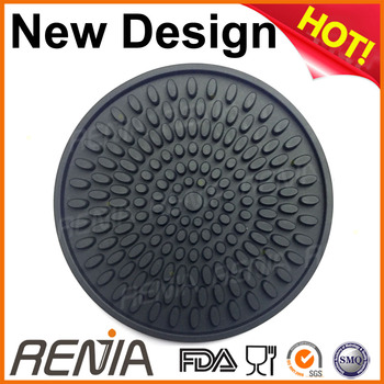 RENJIA soft silicone cup mat placemat teapot silicone mat for sterilization tray