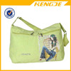 2015 china wholesale girl canvas school shoulder bag messenger bag