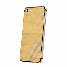 Professional factory in China supply 24kt gold plating housing with crystal for iphone 7 cover