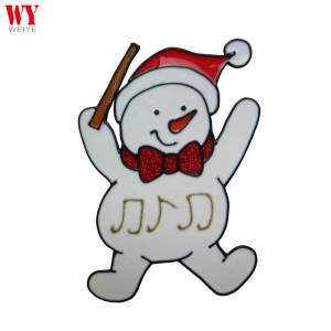 Dancing Snowman Christmas gel art sticker window sticker glass stickers