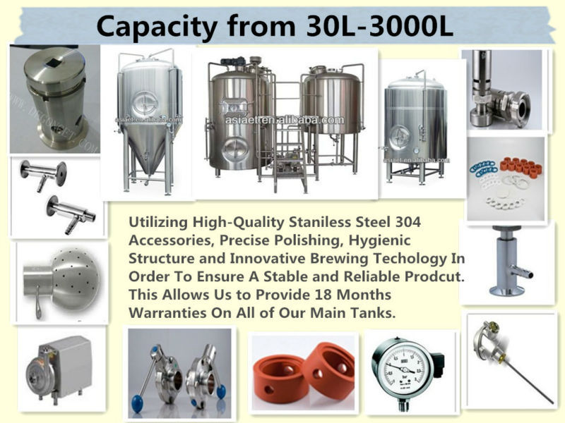 Stainless Steel Conical Fermenters Beer/Wine Brewing