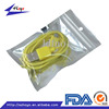electronic use three side sealed clear plastic bag with hanger hole