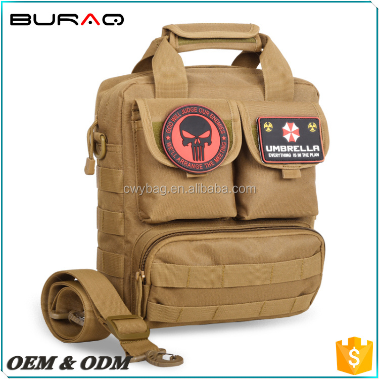 600D Nylon Waterproof Military Mens Large Pad Messenger Bag