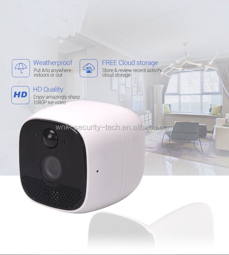 Smart Home Outdoor Weatherproof Wireless CCTV Security WiFi Battery Powered  IP Camera with SD Memory Card Slot 2-Way Audio, View ptz wifi wireless ip