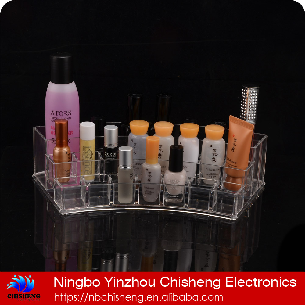 super strong ultra transparent makeup acrylic organizer storage box holder