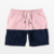 China Factory  High Quality Color Block Custom Mens Swim Shorts
