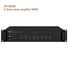 AP-6Z500 economic multi partition 500W mixer power amplifier 6 zone inside for stores hotels