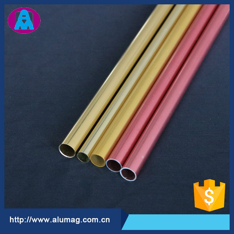 extruded aluminum tubing 6061 with colored anodizing