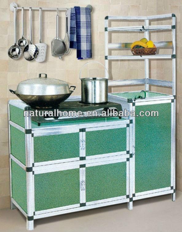 Hot Whole Aluminium Kitchen Cabinet Set