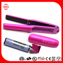 Mini cordless MCH flat iron Professional Hair Straightener Hot Selling Name Brand Flat Irons