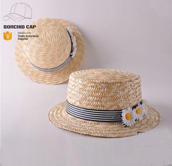 summer cheap plain kids bowknot boater hat wholesale custom beautiful kids  straw boater hat 5988fbbb721