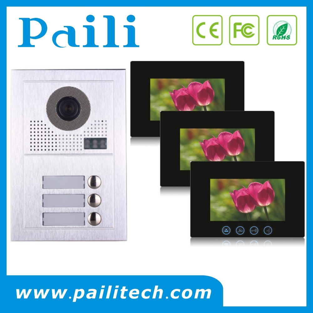2- Wire Multi Apartment Intercom/video Door Phone System For Wired ...