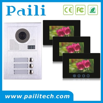 2 Wire Multi Apartment Intercom Video Door Phone System For Wired Security