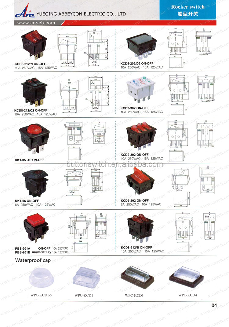 125v 6 Pin Rocker Switch Wiring Diagram Block And Schematic Diagrams Ac 3 Prong Abbeycon Wholesale High Quality Mini 4 Pins Red Illuminated Rh Alibaba Com