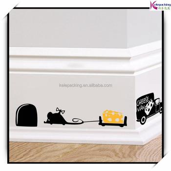 Grappige Muis Gat Muurstickers Creatieve Rat Gat Cartoon ...