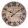 Antique engraved wooden wall clock