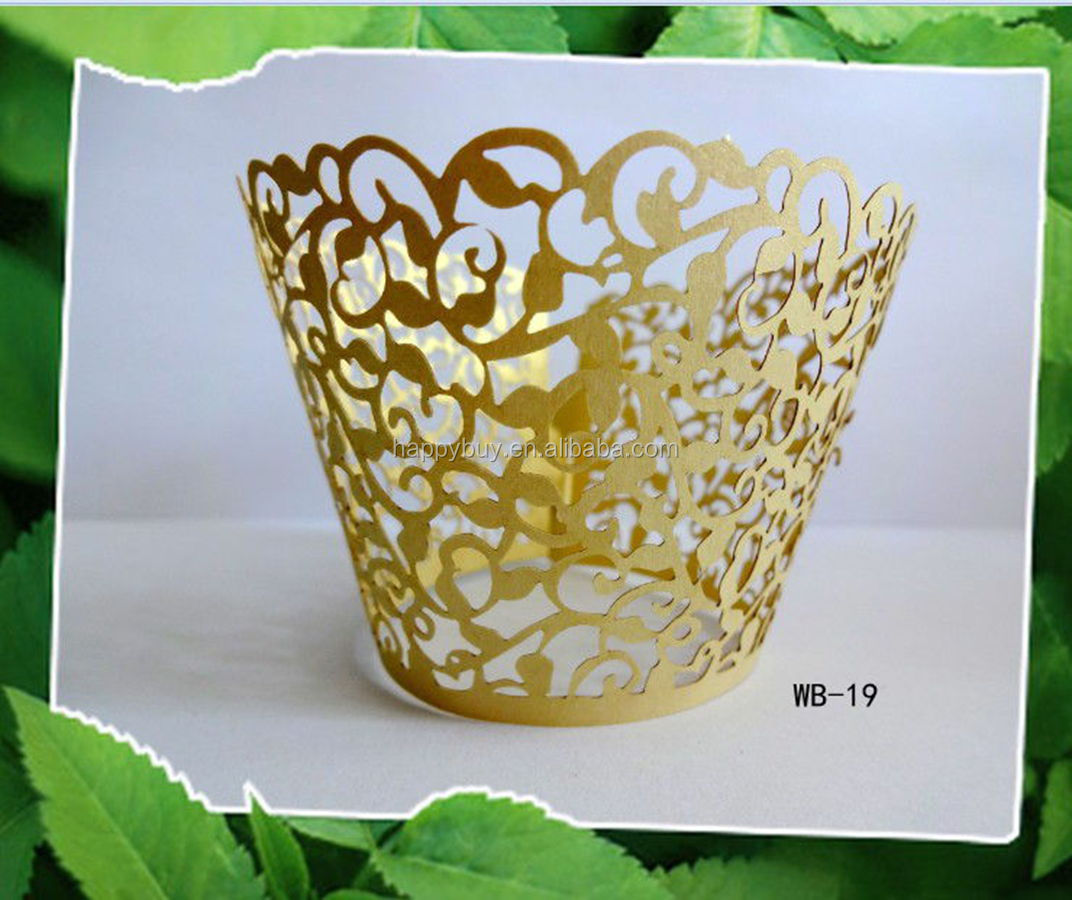 2013 new design laser cut cupcake wrappers