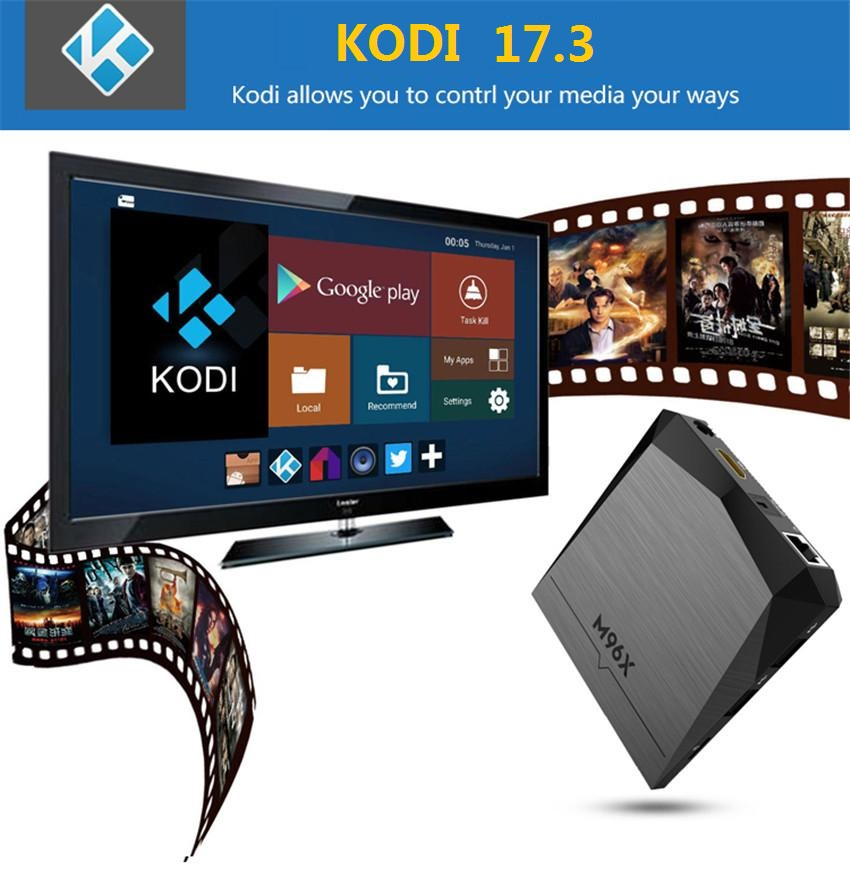 M96X Amlogic S905X Android 6.0 TV Box 1GB/2GB 8GB/16GB Kodi Fully Load 4K TV IPTV Smart Media Player