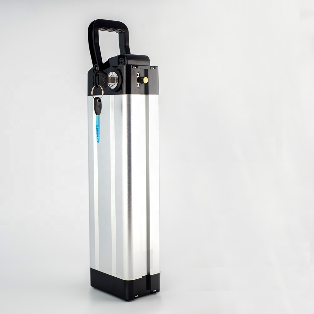 Wholesale 500W Ebike Battery Pack Electric Bike Battery 36v 14ah Silver Fish Battery, Silver+black