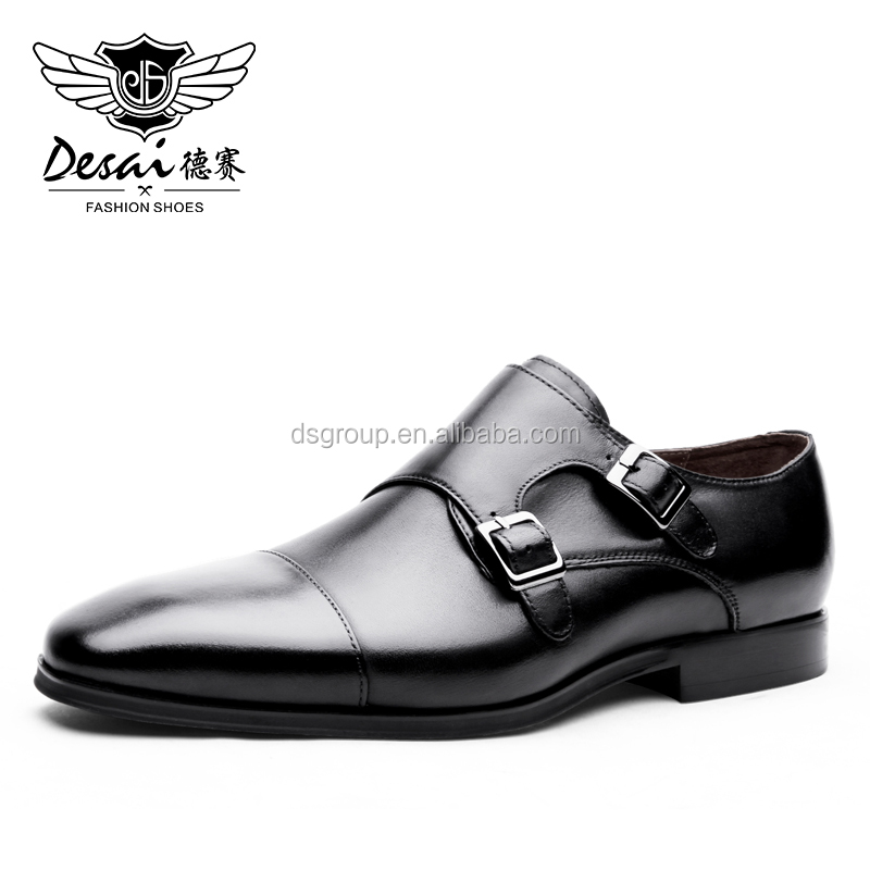 Black Cowhide Leather Official Business Luxury Formal Shoes with Factory Direct Wholesale