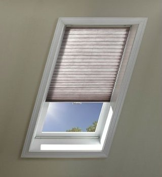 Manual Skylight Roller Blinds Pleated And