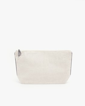 linen ladies zipper clutch makeup bag simple style factory wholesale high quality custom women cosmetic bag