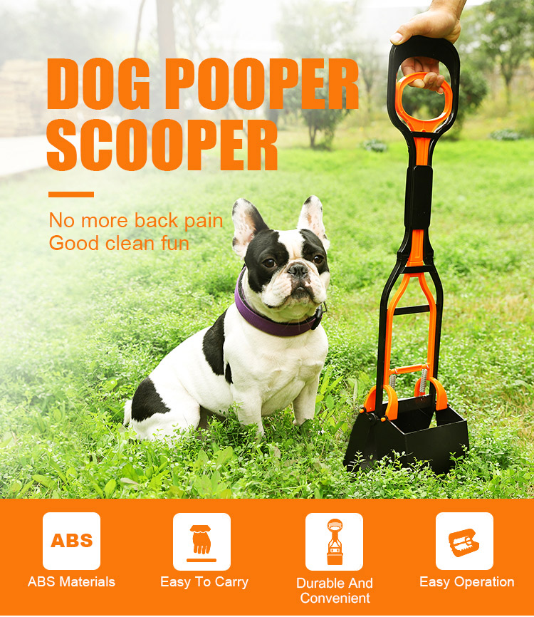 Pet Products Long Handle Portable Dog Pooper Scooper