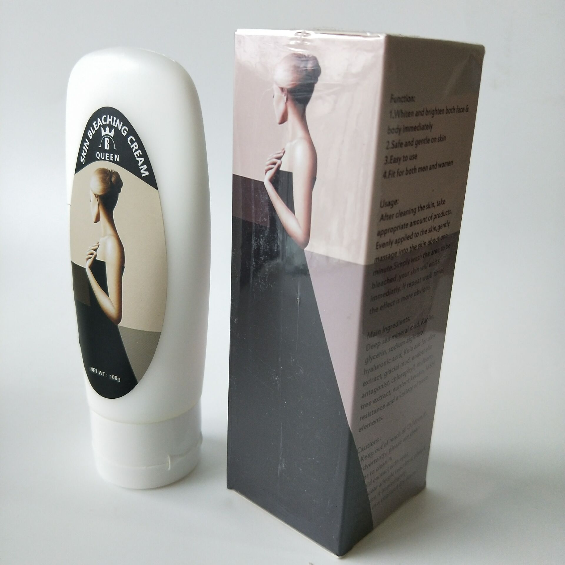 Black and White Bleaching Cream for Body with Unique Formula