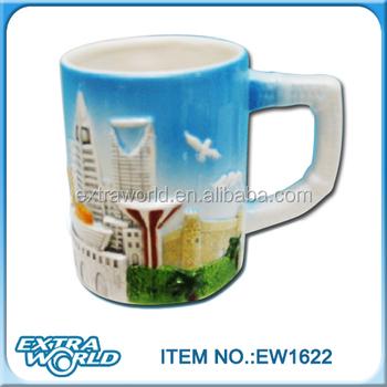 Handmade D Dubai Ceramic Souvenir Coffee Mug