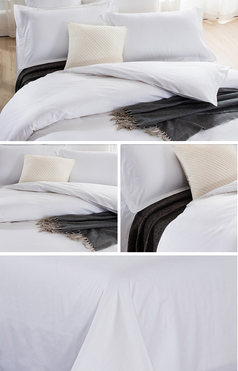 luxury hotel bedding 100% cotton bedsheet / bed sheets bedding set