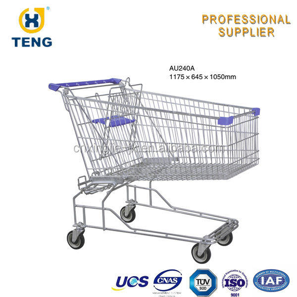 Australia Supermarket Shopping Cart Folding Fabric Shopping Carts with Wheels