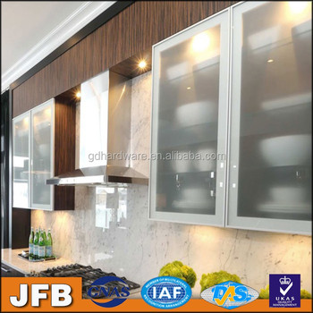 Best selling products kitchen cabinet aluminum frame glass for Aluminum kitchen cabinets in the philippines