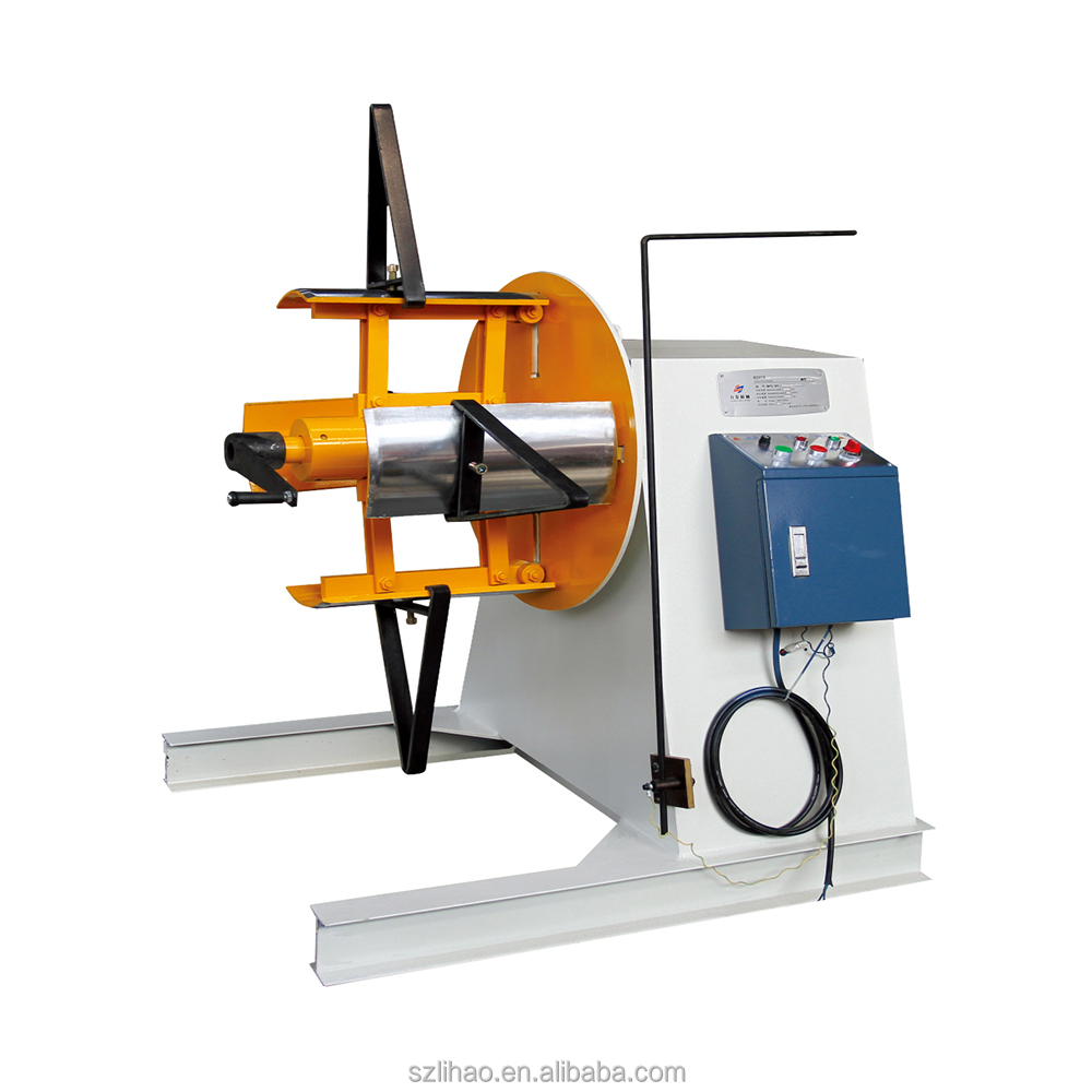 New type heavy duty sheet metal automatic decoiler with arm