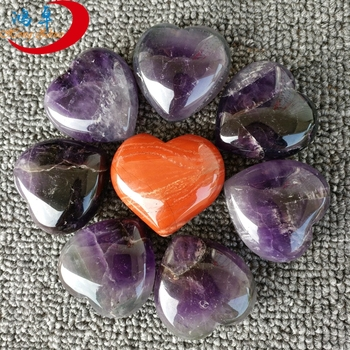 Crystal yellow jade hearts carved healing pendant heartss engraved shaped rocks