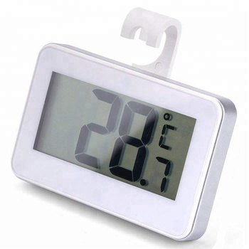 J&R Wholesale Mini Smart Wireless LCD Electronic Fridge Freezer Thermometer with Hanging Hook Support Stand Magnet