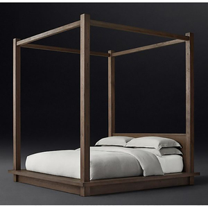 American style bedroom design furniture wooden four-poster Wooden Bed
