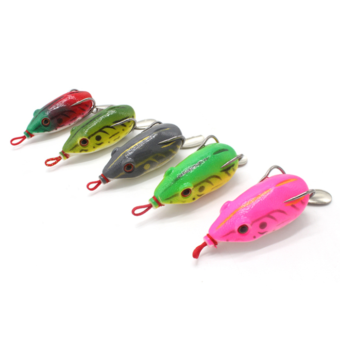 Gorgons 1pcs 13g Upgrade Version Topwater Fishing Tackle Strengthen Snakehead Bait Mouse Soft Frog Lure, Vavious colors