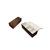 Brown Cardboard Velvet Jewelry Gift Boxes