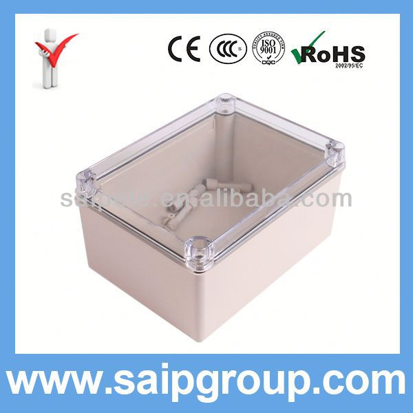 IP66 China ABS Plastic Electric Meter Boxes With Clear Cover 150x200x100mm