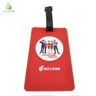 Soft pvc airlines travel suitcase bag label name tagand designed luggage tag for air company