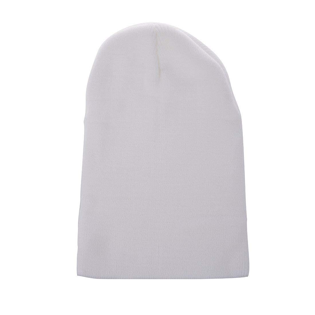 4fc7e5fbe6d88 Get Quotations · GQMART Winter Beanie Knit Ski Cap Hat Warm (White)