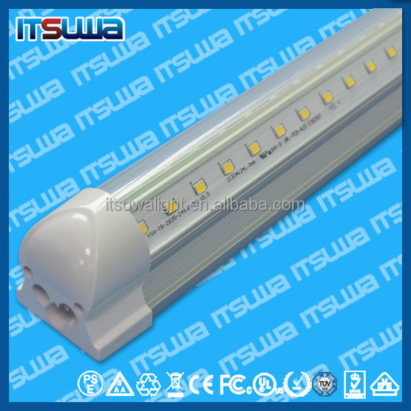 2015 chinese factory 36w 2400mm 8ft led tubo,100lm/w,CE ROHS 8 ft t8 led fluorescent tube replacement waterproof ip65